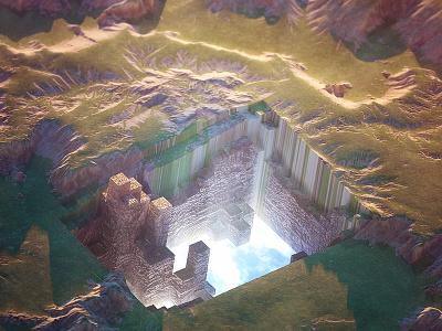 12/26/15 Daily Doodle - Portal surreal landscape portal render 3d octane