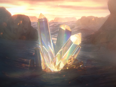 1/6/16 Daily Doodle - Crystal daily landscape crystal 3d render octane