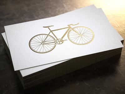 1/12/16 Daily Doodle - Bike Cards letterpress octane 3d render gold bike bicycle