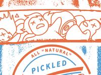 Pickled WIP illustration character dead pickled