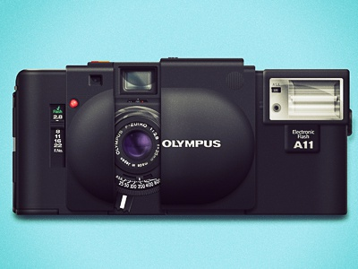 Olympus XA - 1 olympus xa camera photoshop rangefinder vector layer styles film 35mm psd