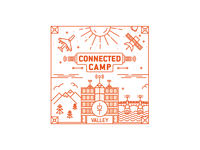 Le Connected Camp Illustration