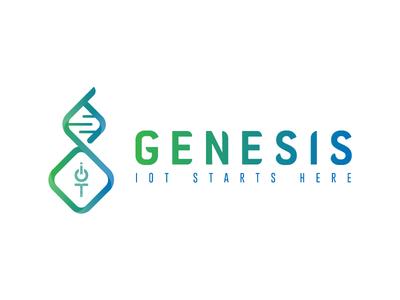 Genesis logo pt.2 development internet of things internet iot tech nature gradient logotype logo branding