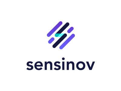 Sensinov logo connection saas data tech internet of things iot startup logotype logo