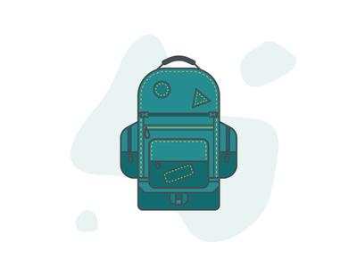 Backpack Illustration startup outdoor simple backpack line illustration