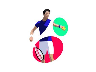 Novak Djokovic illustration player colorful ball service novak djokovic djokovic novak tennis