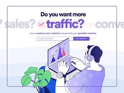Shinebloom Landing Page seo marketing agency landing page branding agency web ux design illustration ui website