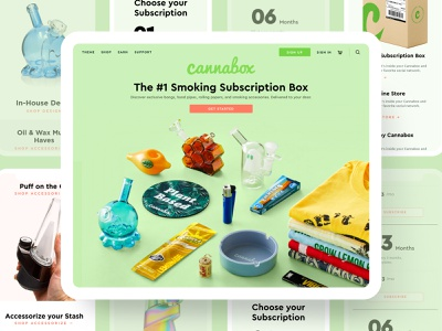 Cannabox Landing Page clean webdesign website branding landing page weed cannabies cannabox