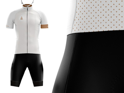 Authentic Cycling Kit white triangles racing kit jersey cyclist cycling clean biking bikes bibs