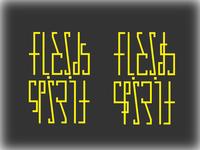 Spirit Flesh Ambigram 2