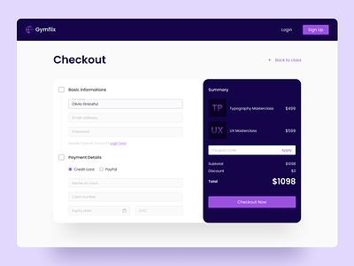 Checkout Page - Web Design app uiux checkout page checkout clean flat design minimal website web design web figma ux design ux ui design ui