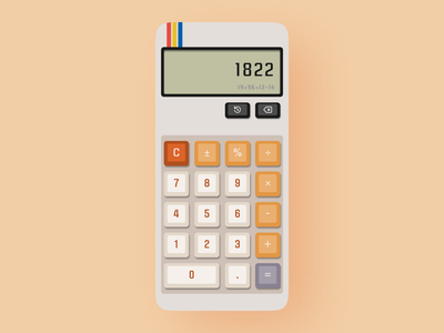 Calculator App retro design mechanic 3d mobileapp mobile calculator retro figma ux design ux ui design ui