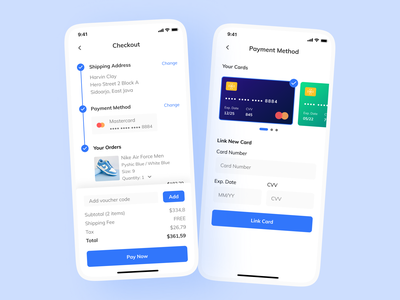 Credit Card Checkout shop ux design ux clean ui design ui credit card payment checkout app mobile figma day002 dailyuichallenge dailyui