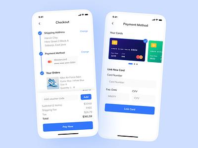 Credit Card Checkout shop ux design ux clean ui design ui credit card payment checkout app mobile figma day002 dailyuichallenge dailyui