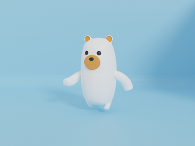 3D Bear 3d character 3ddesign ice bear cute character blender 3dmodeling bear lowpoly 3d