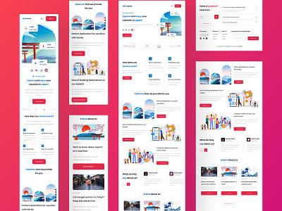 Wibustrez - Website Travelling mobile & tablet responsive web app web app travelling japan minimal landing page website tablet responsive illustration ui mobile flat ux design clean