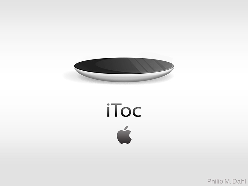iToc apple  watch conceptual vector illustrator