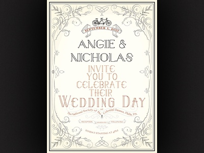 You're invited! print illustrator typography vector