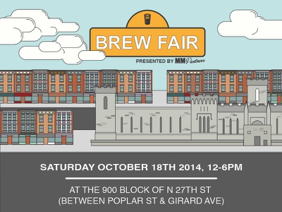 Brew Fair flyer illustrator vector print philadelphia