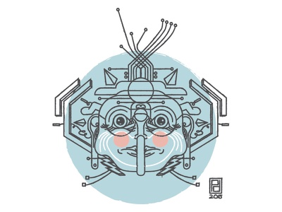 Jack Frost vector illustrator winter sketch