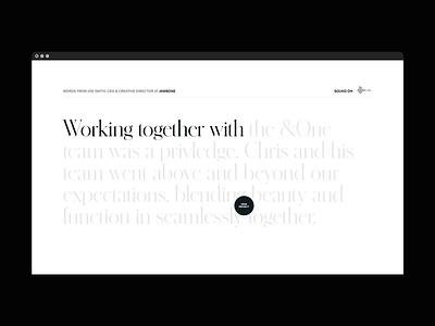 Archive — Testimonial user experience digital design typography layout ui brand design branding design testimonial ux design web design agency web design