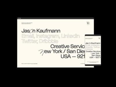 Jason Kaufmann —Landing Page