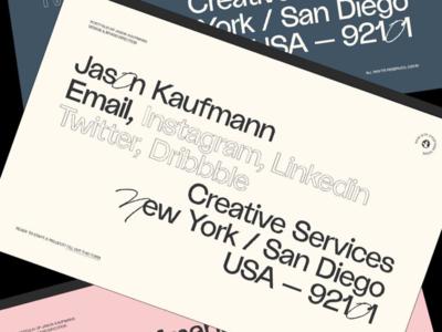 Jason Kaufmann — Landing Page, Color branding color web design typography