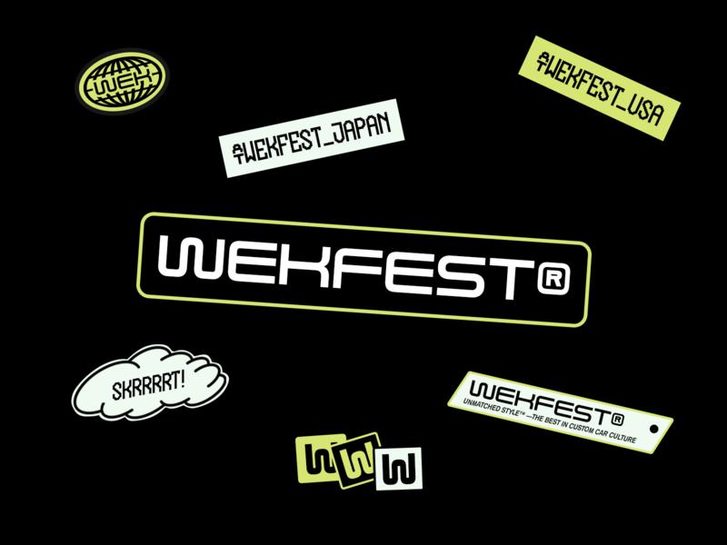 Wekfest® — Starter Pack illustration logo stickers branding design identity color design brand identity brand design typography branding