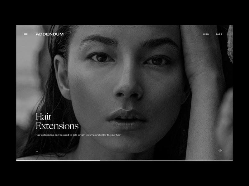 Addendum — Category Detail Page web ux typography brand design branding ux  ui ux design beauty minimal hero image website design web design website ui design