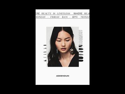 Addendum - Type & Composition typography type brand poster design layout brand identity branding visual design composition poster design
