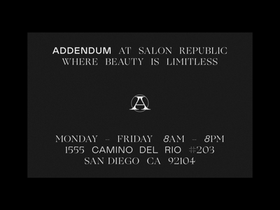 Addendum — Early Type & Logomark Exploration logo logomark icon layout typography type visual design brand identity brand design brand branding identity
