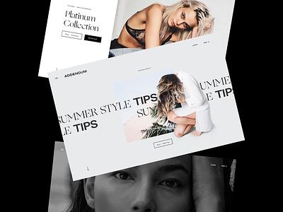 Addendum - Web Concepts websites landing page identity brand design branding design ux design interaction composition layout web website design web design ux