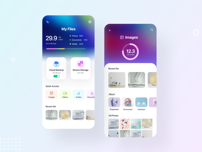 File Management and sharing App cloud app image gallery management app top design ui trend ux trends design trend file upload file sharing file manager file