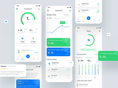 Your Hour app ui redesign ui trend 2020 ui trends ui trend top ux ui designer top design uidesign screen record track product page product productivity productive uiux app design ux design ui design