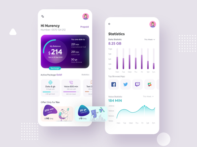 #Exploration - Telecom Operator App uidesign ui trends ui trend top ui awesome minimal simple flat design gradient mobile operator telecommunications telecommunication telecoms telephone telecom