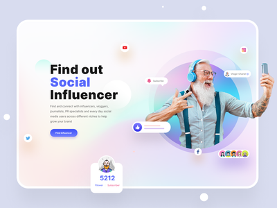 Hire Influencer Web UI ui trends tend clean ui mentoring mentor influencer marketing influencers influencer