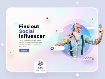 Hire Influencer Web UI ui trends tend clean ui mentoring mentor influencer marketing influencers influencer
