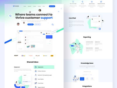 ThriveDesk Landing Page UI ui trends top trend landing page ui landing page landingpage webdesign website design web design website saas landing page saas website saas design saas app