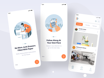 Digital  Instruction book App flutter ios app design mobile app uiux ux  ui top trend top app flat app minimalist app design