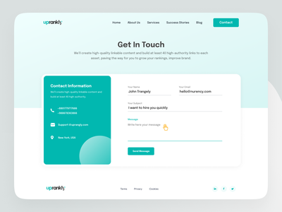 Contact Form UI contact interface interface design most popular trendy ui popular design trendy design form user interface design user experience design get in touch contact form communication contact design web design ux design ui design ux ui