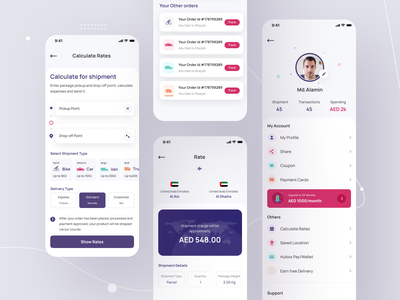 Parcel Delivery App UX UI user experience design user interface design cx uxd user interface user experience native app app ui mobile app product delivery parcel delivery parcel shipment delivery ui trend app design ux design ui design ux ui