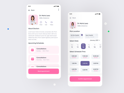 Doctor Booking App UX UI application design android app ios app app interface mobile app user interface user experience booking app doctor booking booking medicine treatment health doctor ui trend app design ux design ui design ux ui