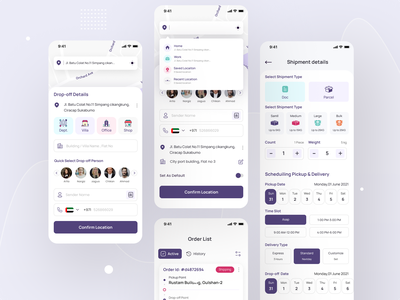 Logistic Service App UX UI product delivery functionally pleasing app aesthetic app ui beautiful ui user interface design user experience design courier parcel delivery delivery shipping international shipment shipment logistic service logistic ui trend app design ux design ui design ux ui