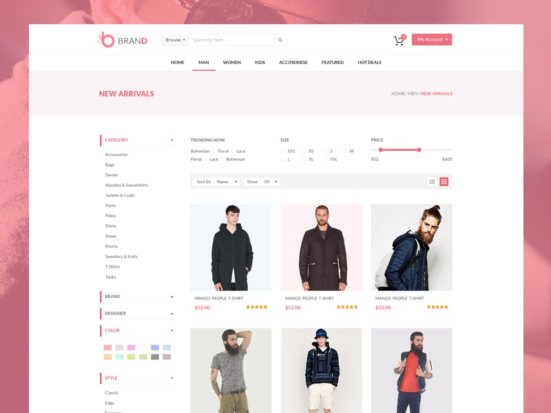 product page by nasir uddin dribbble