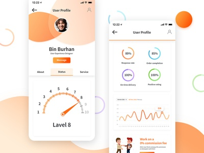 PP User Profile Status profile ui user profile ecommerce ui kit template psd dashboard app design app layout interface ux design wireframe ui design ui ux