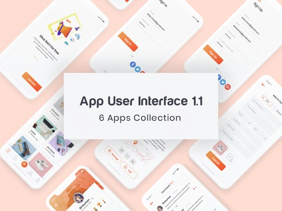 App User Interface collection 1.1 wire-frame cart ecommerce ui kit psd wireframe template app dashboard app design layout interface ux design web design ui design ux