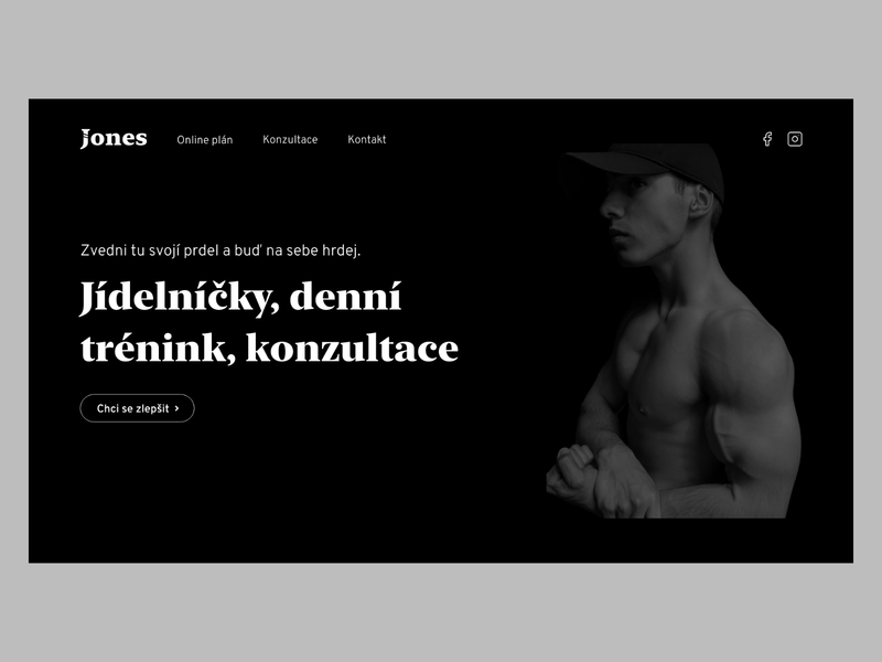 Fitness Coach Landing Page black and white minimal clean fitness dark ui ui website landing page black