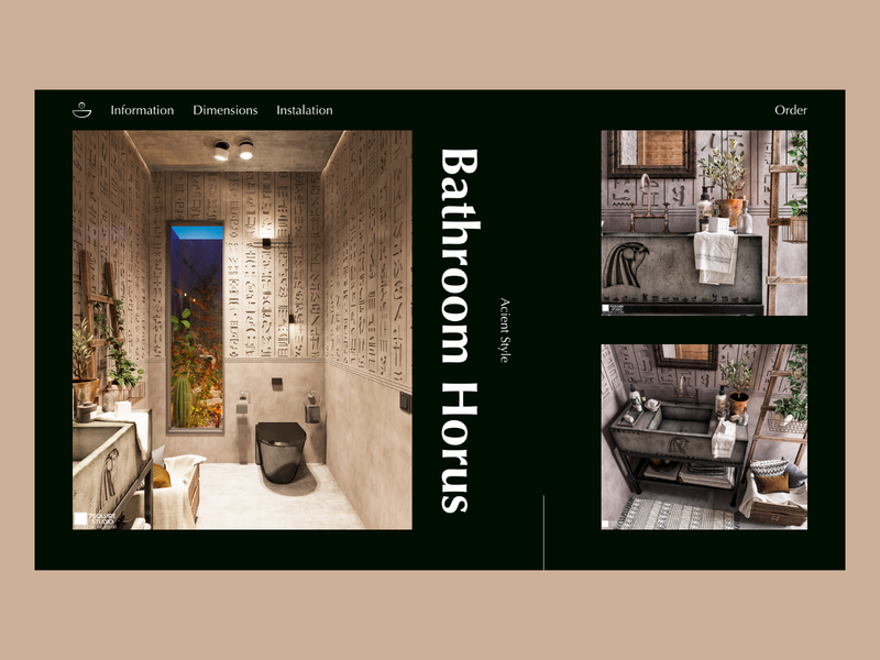 Bathroom Landing Page house ux ecommerce elegant dark ui landing page web design ui website