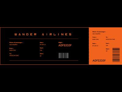 Boarding Pass #DailyUI branding webdesign design ui design boarding plane ui dailyuichallenge dailyui boardingpass