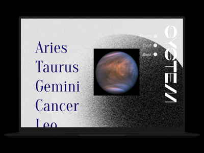 SYSTEM part 2 branding astrology ux design ux webdesign design dailyuichallenge ui design ui dailyui